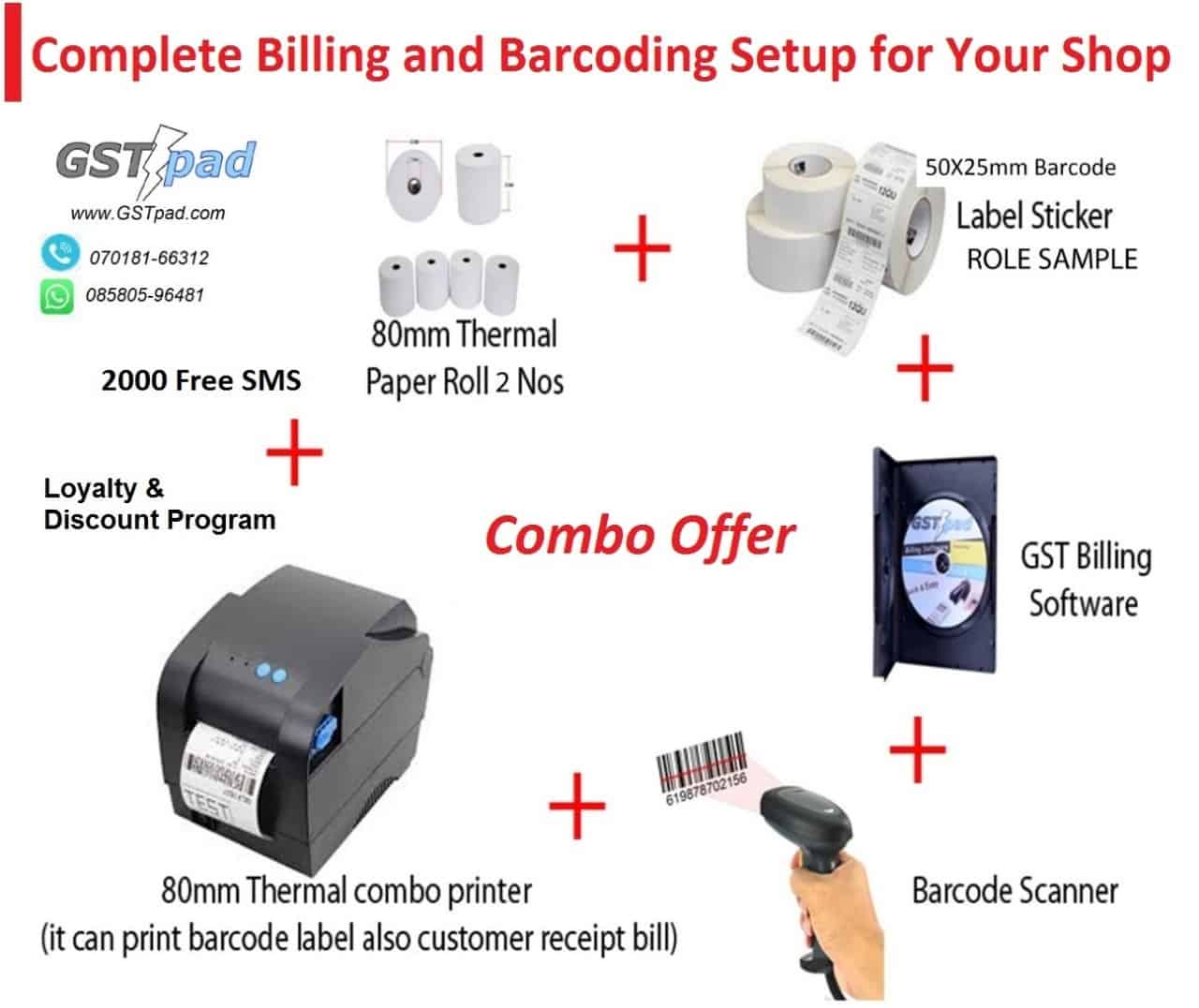 Billing software with barcode scanner