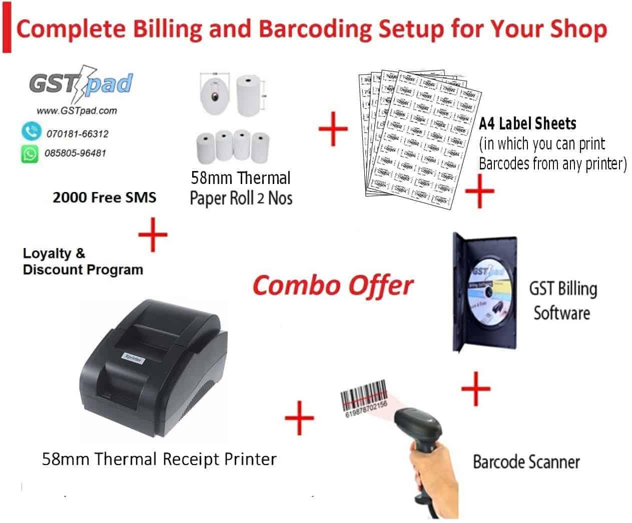 Complete billing setup for retail shop